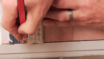 measure door gap.