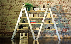 Step into the world of contemporary design with this simple, yet ever so functional set of shelves.
